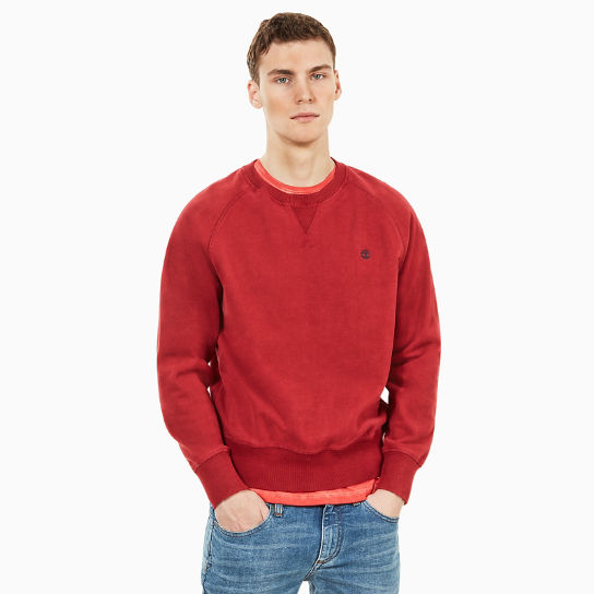 Exeter River Sweatshirt for Men in Red | Timberland