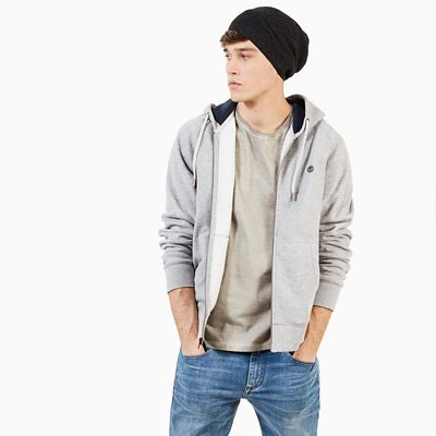 Exeter+River+Full+Zip+Hoodie+for+Men+in++Grey