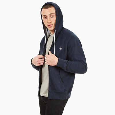 Exeter+River+Full+Zip+Hoodie+for+Men+in++Navy