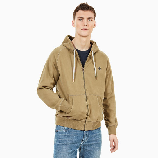 Exeter River Full Zip Hoodie for Men in Green | Timberland