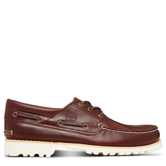 Men's Chilmark 3-Eye Boat Shoe Dark Brown | Timberland