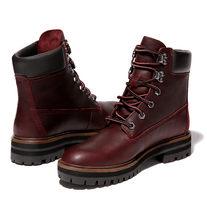 London Square 6 Inch Boot for Women in Burgundy-