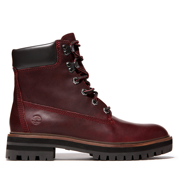 6 Inch Boot London Square pour femme en bordeaux