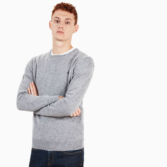 Suncook River Merino Sweater for Men in Grey | Timberland