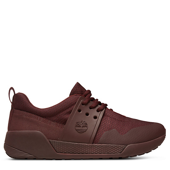 Kiri Up Knit Sneaker for Women in Burgundy-