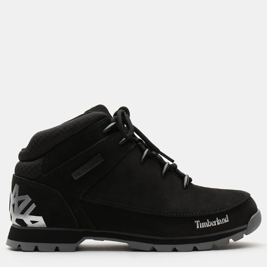 Euro Sprint Leather Hiker for Men in Black | Timberland