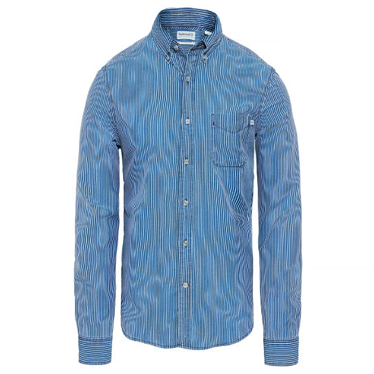 Men's Taunton River Striped Shirt Indigo | Timberland