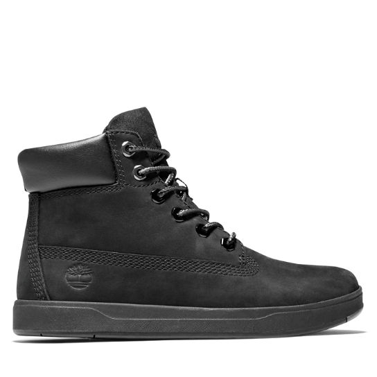 Davis Square 6 Inch Boot for Youths in Black | Timberland