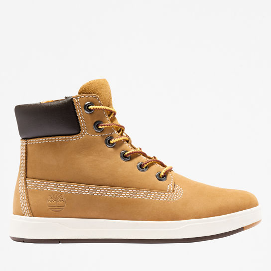 Davis Square 6 Inch Side-zip Boot for Men in Yellow | Timberland
