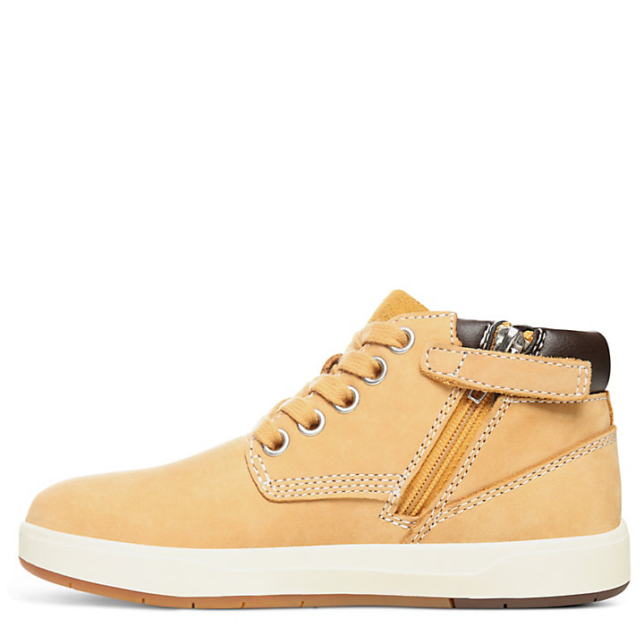 Davis Square Zip Chukka for Youth in Yellow-