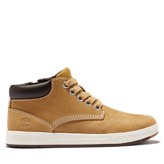 Davis Square Zip Chukka for Youth in Yellow | Timberland
