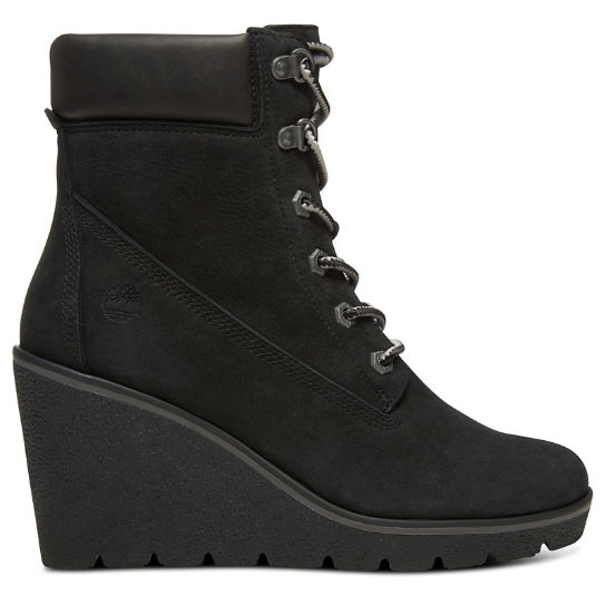 Paris Height 6 Inch Boots for Women in Black | Timberland
