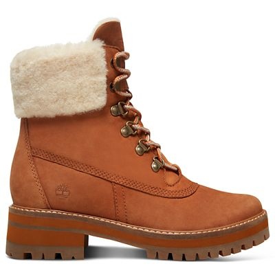 Courmayeur+Valley+Shearling+Boot+for+Women+in+Rust