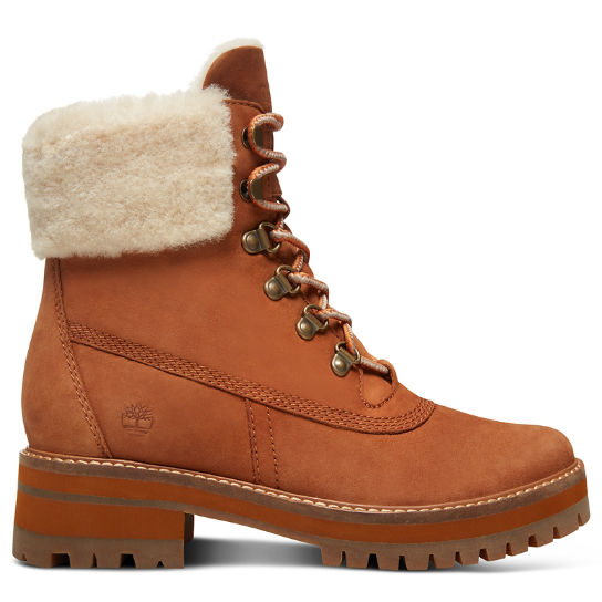 Courmayeur Valley Shearling Boot for Women in Rust | Timberland