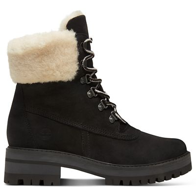 Courmayeur+Valley+Shearling+Boot+for+Women+in+Black