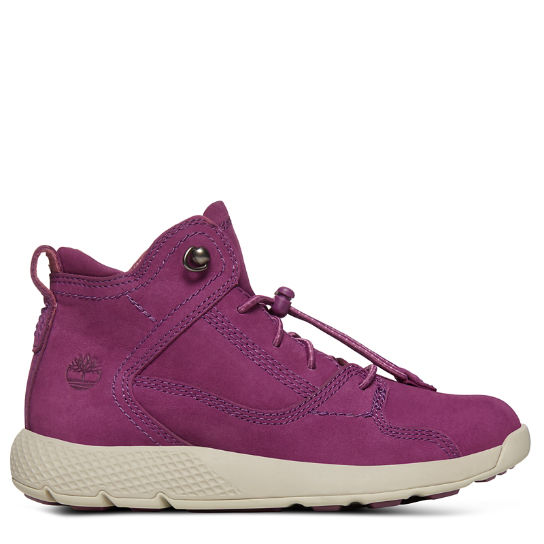 Flyroam™ High Top Sneaker for Youths in Purple | Timberland