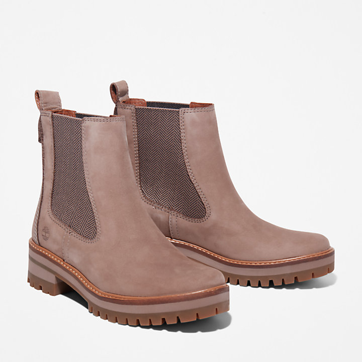 Courmayeur Valley Chelsea-Damenstiefel in Taupe-