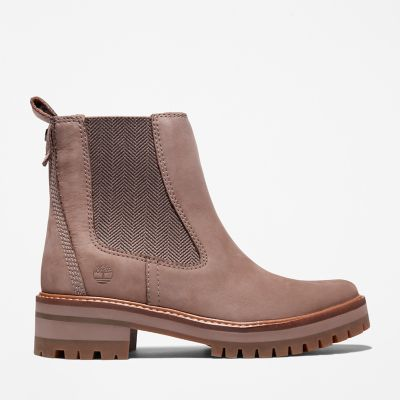 Courmayeur+Valley+Chelsea+Boot+voor+Dames+in+Taupe