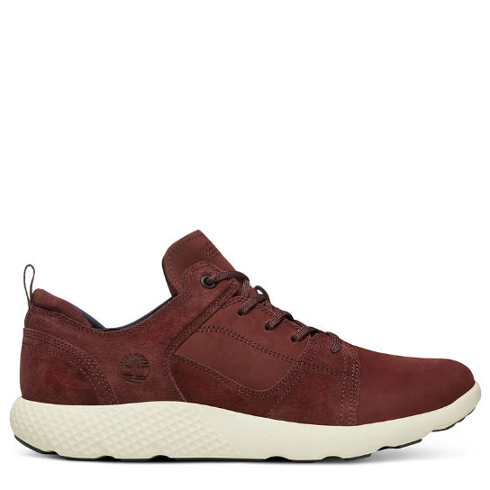 FlyRoam™ Leather Sneaker for Men in Burgundy | Timberland