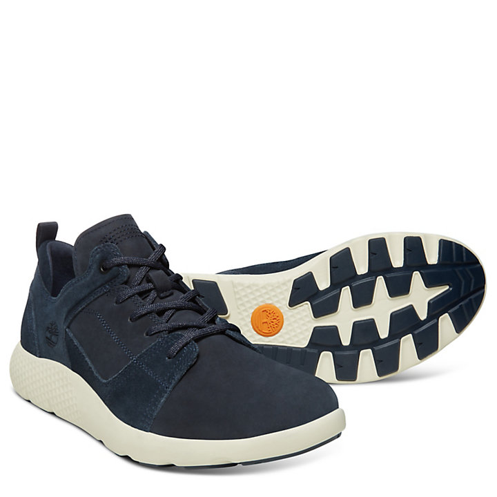 afbe4ef482 Sneaker da Uomo in Pelle FlyRoam™ Blu Marino