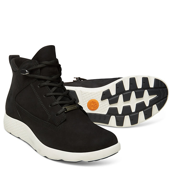 FlyRoam™ High-Top Sneakers voor Dames in Zwart-