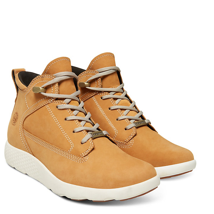FlyRoam™ High-Top Damensneaker in Gelb-