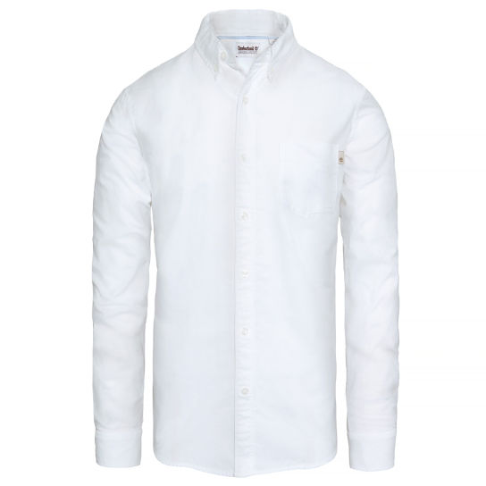Pleasant River Shirt hombre Blanco | Timberland