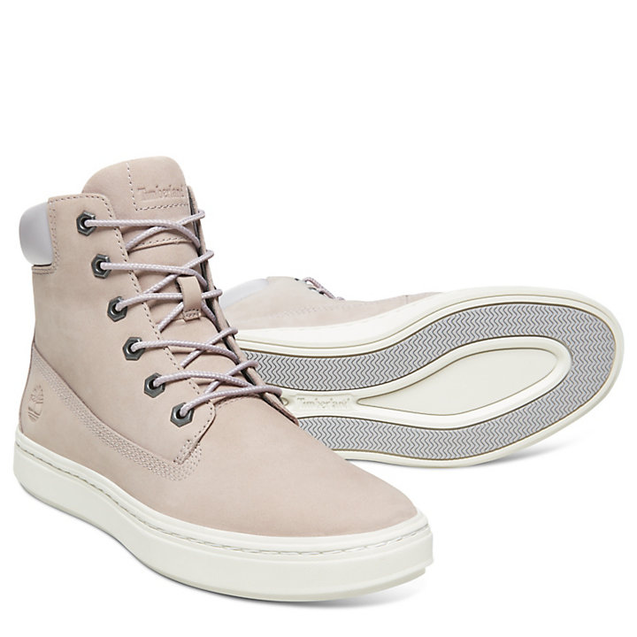 Londyn 6 Inch High-Top Sneaker for Women in Pale Grey-