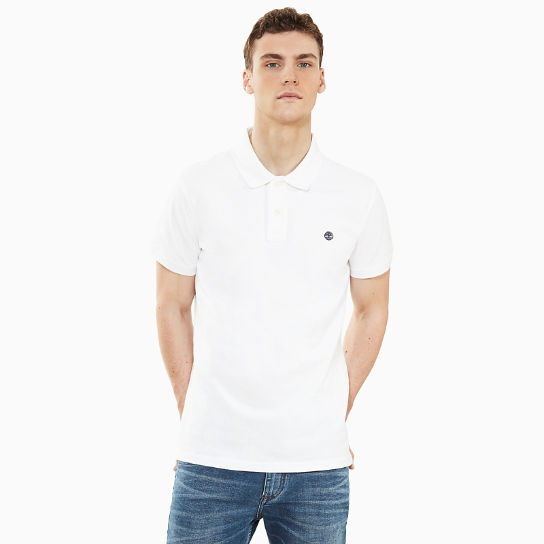 Millers River Polo Shirt for Men in White | Timberland