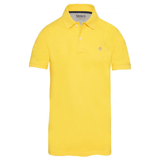 Herren Millers River Polo Shirt Gelb | Timberland