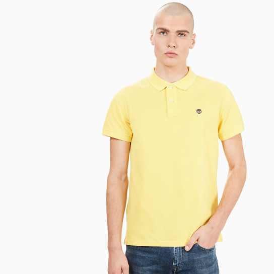 Millers River Polo Shirt for Men in Yellow | Timberland