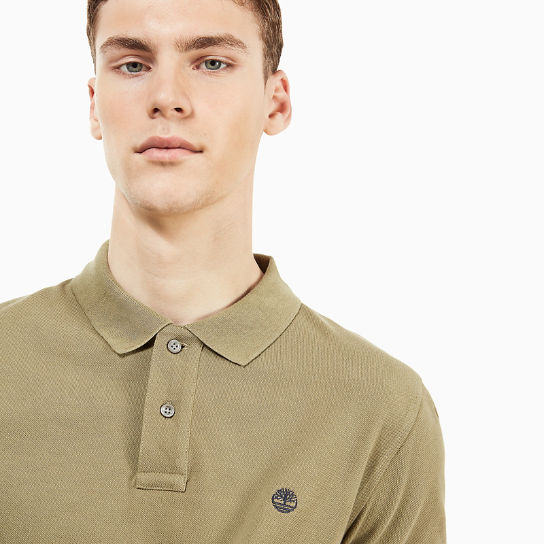 Millers River Polo Shirt for Men in Green | Timberland
