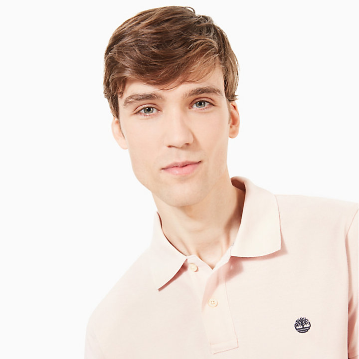 Millers River Polo Shirt for Men in Light Pink-