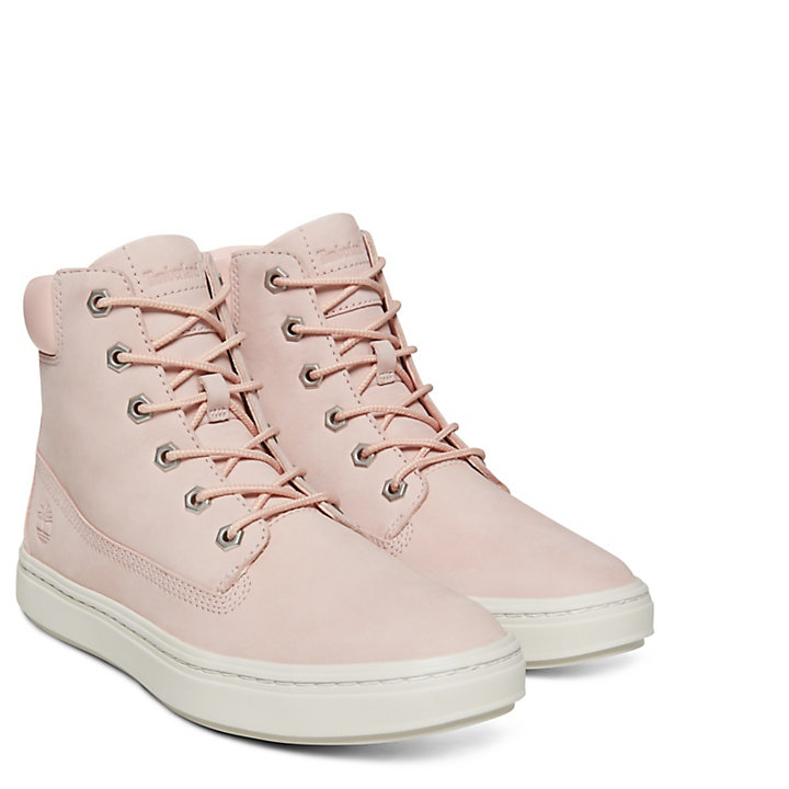 Londyn 6 Inch High-Top Sneaker for Women in Pale Pink-