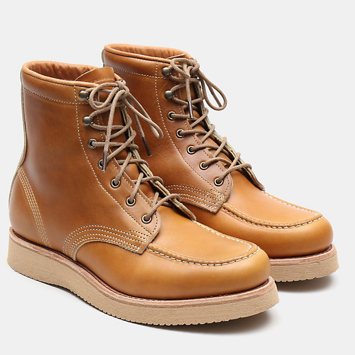 American Craft Moc Toe Boot for Men in Yellow-