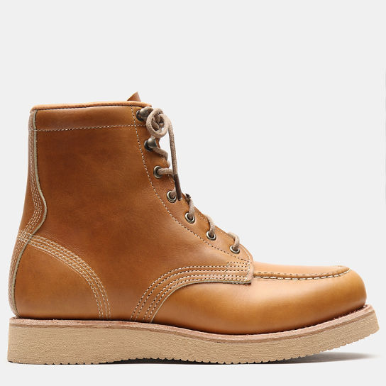 American Craft Moc Toe Boot for Men in Yellow | Timberland