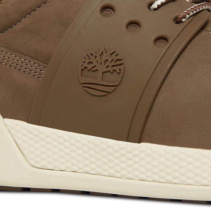 Kiri Up Leather Sneaker for Women in Brown-