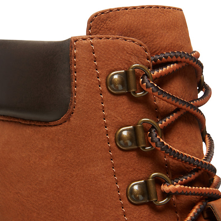 Leslie Anne Lace Up Boot for Women in Rust-