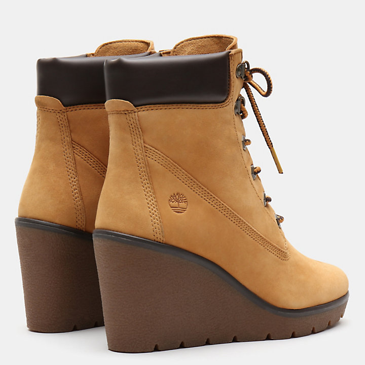 Paris Height 6 Inch Boot voor Dames in geel-