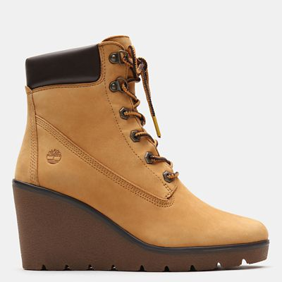 6-Inch+Boot+Paris+Height+pour+femme+en+jaune