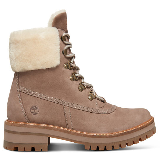 Courmayeur Valley Shearling Boot for Women in Taupe | Timberland