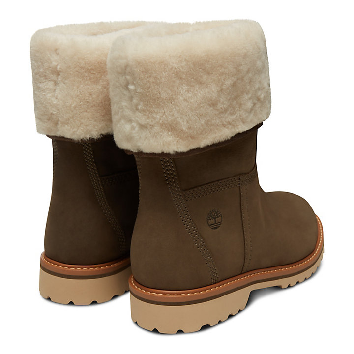 Botte Chamonix Valley Shearling Femme en marron-