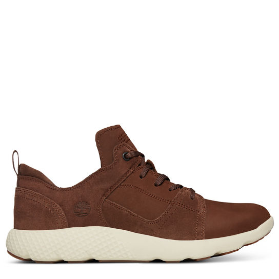 FlyRoam™ Leather Sneaker for Men in Brown | Timberland