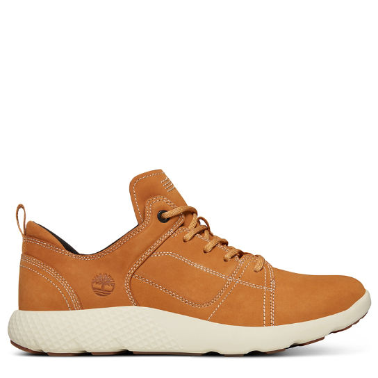 FlyRoam™ Leather Sneaker for Men in Yellow | Timberland