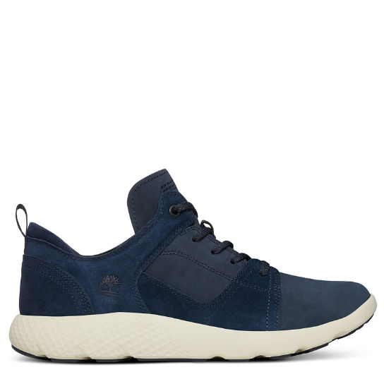 FlyRoam™ Leather Sneaker for Men in Navy | Timberland