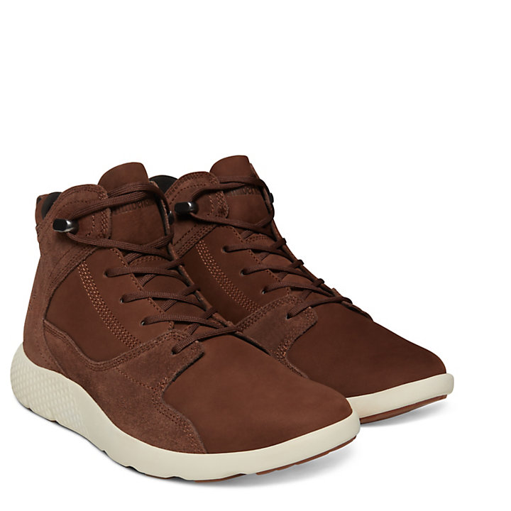 FlyRoam™ High-Top Sneakers voor Heren in Bruin-