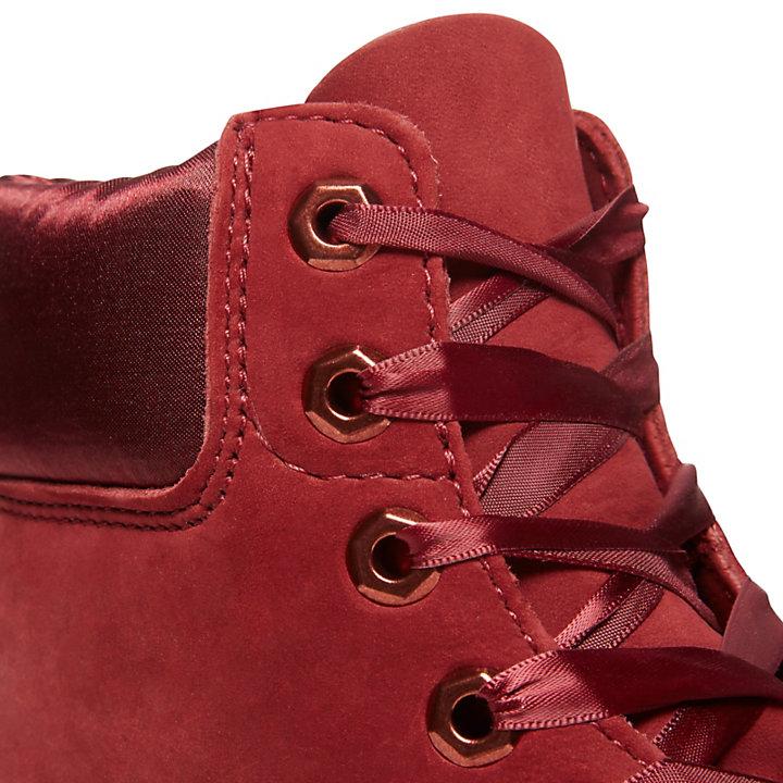 Scarponcino 6-Inch Premium Donna in Velluto Rosso-