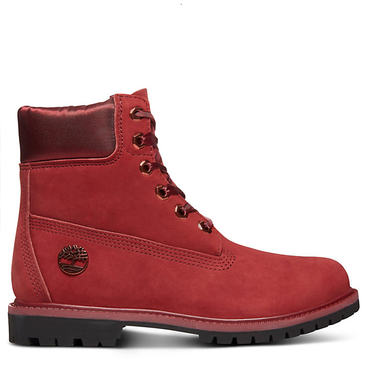 0abea5a6 Bota 6-Inch Premium de Terciopelo para Mujer en Rojo | Timberland