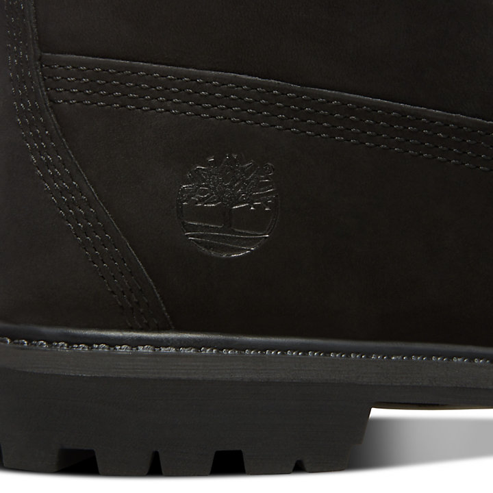 Premium 6 Inch Pull-On Boot for Women in Black-