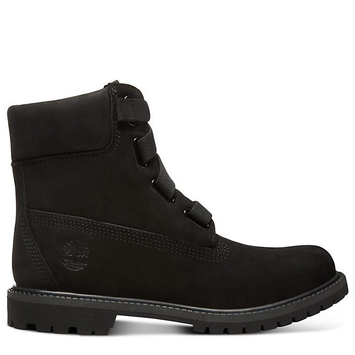 6d231ac33d2f6 Premium 6 Inch Pull-On Boot for Women in Black | Timberland